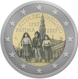 2 Euro Vatikan 2017 - Hundertjahrfeier der Erscheinungen von Fatima - BU