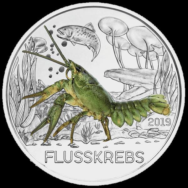 3 Euro Tiertaler Flusskrebs 2019