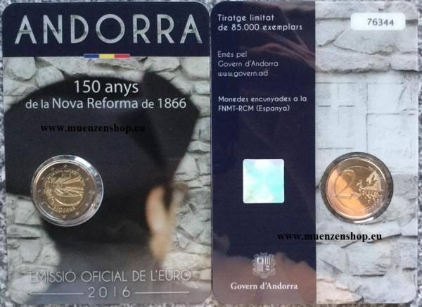 2 Euro Andorra 2016 150 Jahre Neue Reform - BU