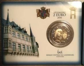 2 Euro Luxemburg 2010 Wappen / Coincard