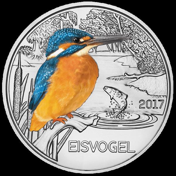 3 Euro Tiertaler Eisvogel 2017