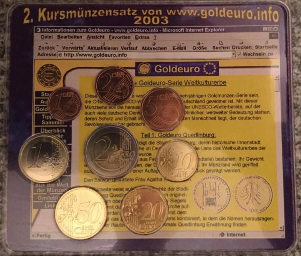 Goldeuro.info KMS Deutschland 2003 - BU - Weltkulturerbe Quedlinburg