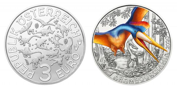 3 Euro Tiertaler Arambourgiania 2020