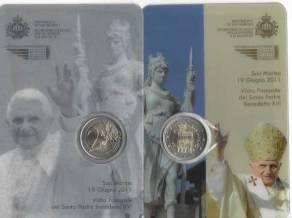 2 Euro San Marino 2011 - Papstbesuch Sonderausgabe