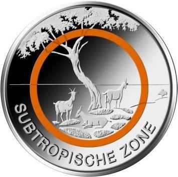 5 Euro Deutschland 2018 - Subtropische Zone - Stempelglanz - Prägestätte unserer Wahl