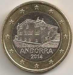 1 Euro Andorra 2014 UNC