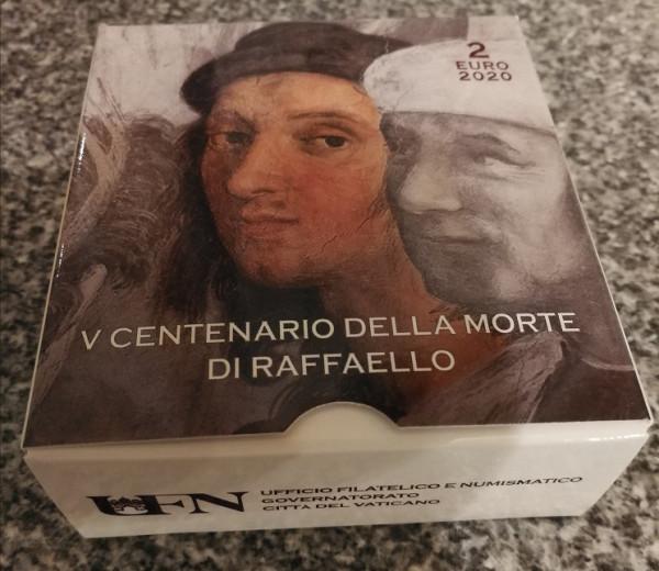 2 Euro Vatikan 2020 - 500. Todestag von Raffaello Sanzio - PP Spiegelglanz