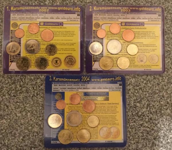 Goldeuro.info KMS Deutschland - Komplettset bestehend aus 3 Jahrgängen - BU