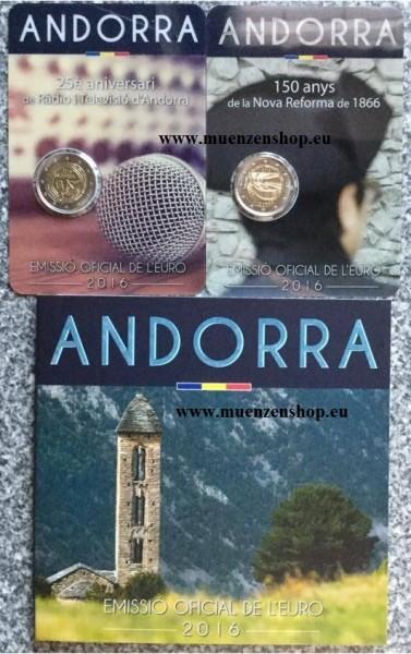Komplettset Andorra Euro Ausgaben 2016