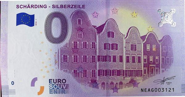 0 Euro Banknote Barockstadt Schärding Silberzeile Österreich