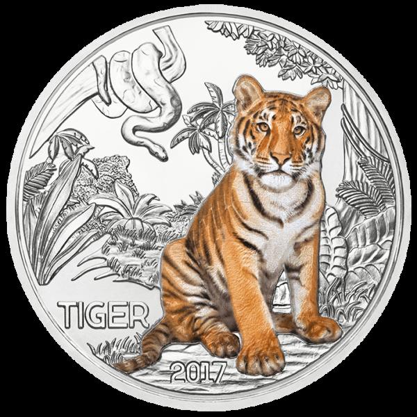 3 Euro Tiertaler Tiger 2017