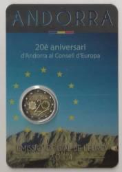 2 Euro Andorra 2014 Europarat - BU
