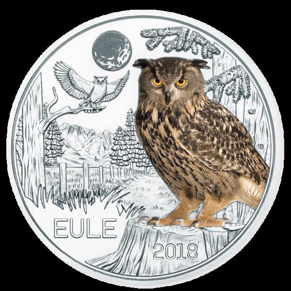 3 Euro Tiertaler Eule 2018