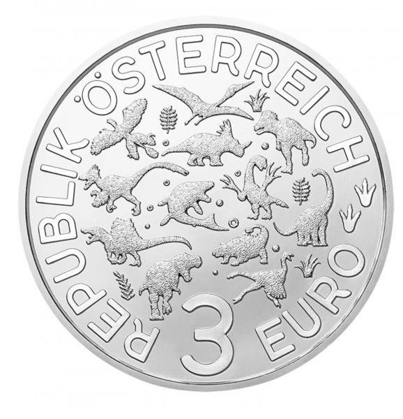 3 Euro Tiertaler Therizinosaurus 2021