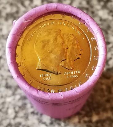 2 Euro Luxemburg 2005 Großherzog Henri und Adolphe - Originalrolle