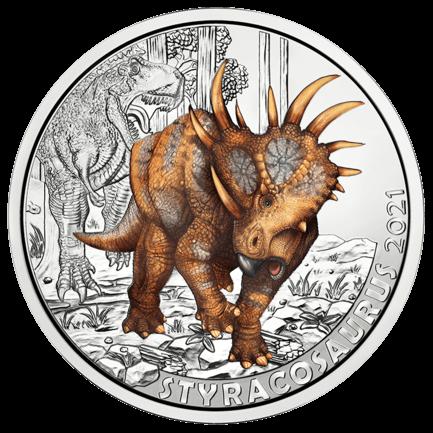3 Euro Tiertaler Styracosaurus albertensis 2021 - Super Saurier