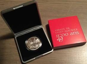 20 Franken Schweiz 2015 - Abtei Saint Maurice - PP