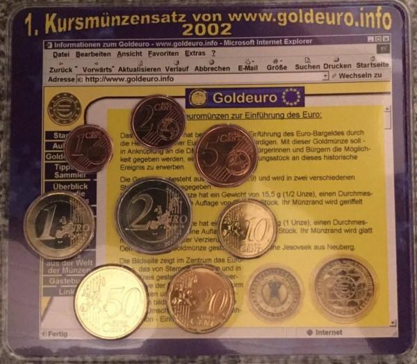 Goldeuro.info KMS Deutschland 2002 - BU - Euro Einführung