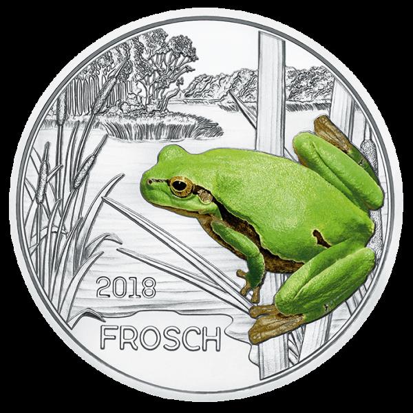 3 Euro Tiertaler Frosch 2018