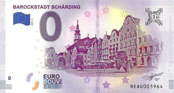 0 Euro Banknote Barockstadt Schärding Motiv 2019 Silberzeile Österreich
