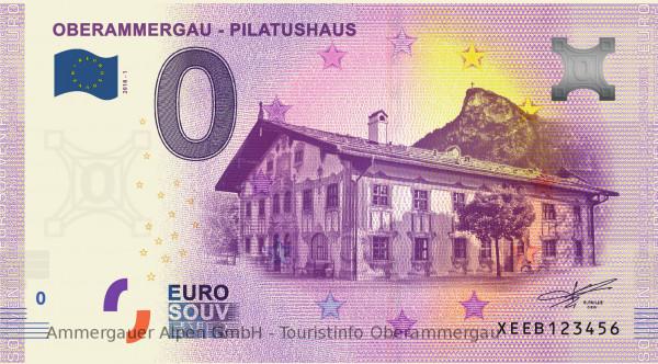 0 Euro Banknote Oberammergau Pilatushaus