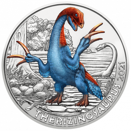 3 Euro Tiertaler Therizinosaurus cheloniformis 2021 - Super Saurier