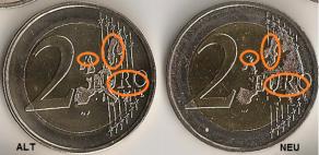 2 Euro Deutschland 2008 Hamburger Michel *FEHLPRÄGUNG*