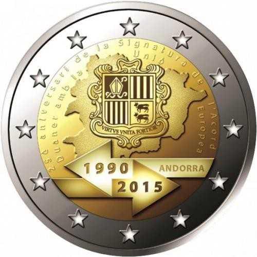 2 Euro Andorra 2015 Zollunion - BU