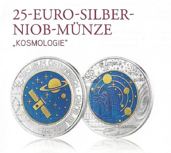 25 Euro Gedenkmünze Österreich 2015 Niob - Kosmologie