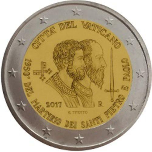 2 Euro Vatikan 2017 - 1950. Jahrestag des Martyriums St. Petrus und Paul - BU