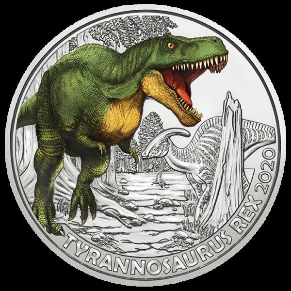 3 Euro Tiertaler Tyrannosaurus Rex 2020 - Super Saurier