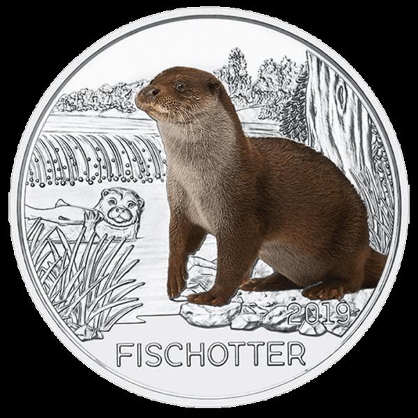 3 Euro Tiertaler Fischotter 2019