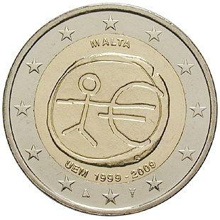 2 Euro Malta 2009 UEM - Originalrolle