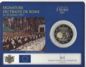2 Euro Luxemburg 2007 Römische Verträge Coincard