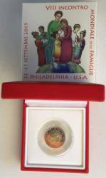 2 Euro Vatikan 2015 - Weltfamilientreffen Philadelphia - Polierte Platte