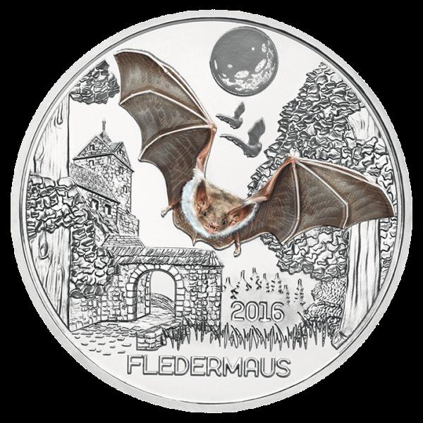 3 Euro Tiertaler Fledermaus 2016
