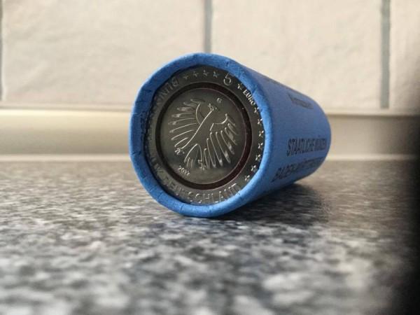 5 Euro Deutschland 2017 - Tropische Zone - Stempelglanz - Rolle Prägestätte Karlsruhe