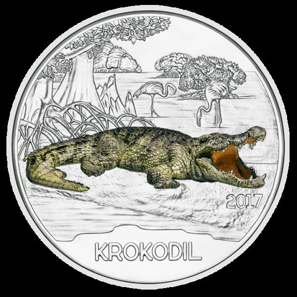 3 Euro Tiertaler Krokodil 2017