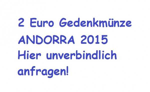 2 Euro Andorra 2015 Volljährigkeit - PP