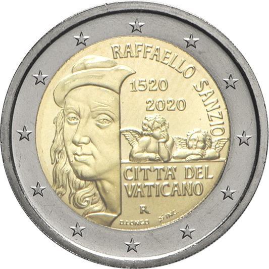 2 Euro Vatikan 2020 - 500. Todestag Raffaello Sanzio - BU