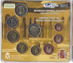 Euro KMS Spanien World Money Fair 2011 - BU
